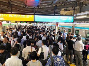 عکس/ متروی شلوغ اما منظم ژاپن!