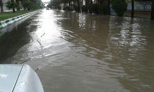 فیلم/ بارش شدید باران و تگرگ در دامغان