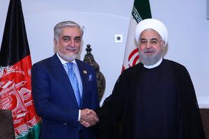 دیدار روحانی با عبدالله رئیس اجرایی دولت افغانستان