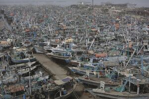 قایقهای ماهیگیری در بندر کراچی پاکستان