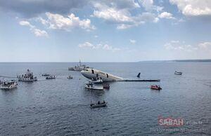 عکس/ غرق کردن هواپیمای مسافربری در ترکیه