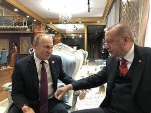 عکس/ دیدار اردوغان و پوتین