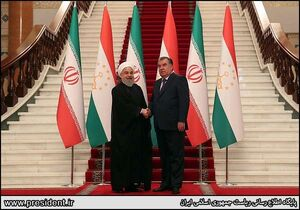 عکس/ دیدار روحانی با رئیس جمهور تاجیکستان
