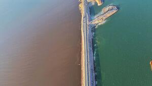 تصاویر هوایی از حال خوش دریاچه ارومیه