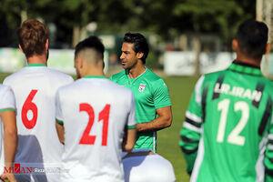 نخستین تمرین تیم فوتبال امید با حضور فرهاد مجیدی