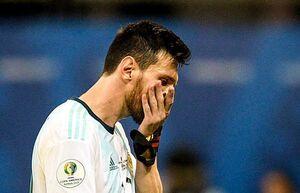واکنش مسی به شکست آرژانتین مقابل کلمبیا