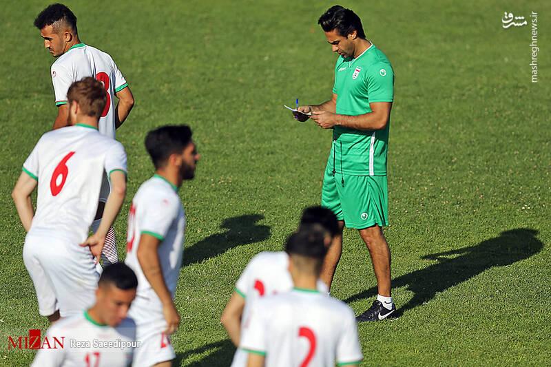 نخستین تمرین تیم فوتبال امید با