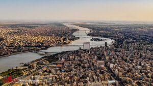 تصویر هوایی زیبا از اهواز