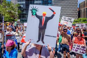 خشم مردم آمریکا از ترامپ