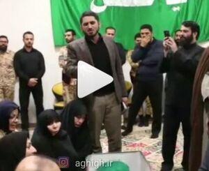 روضه امیر عباسی بر پیکر شهید حدادیان +فیلم