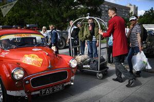 مسابقه خودروهای قدیمی در روسیه