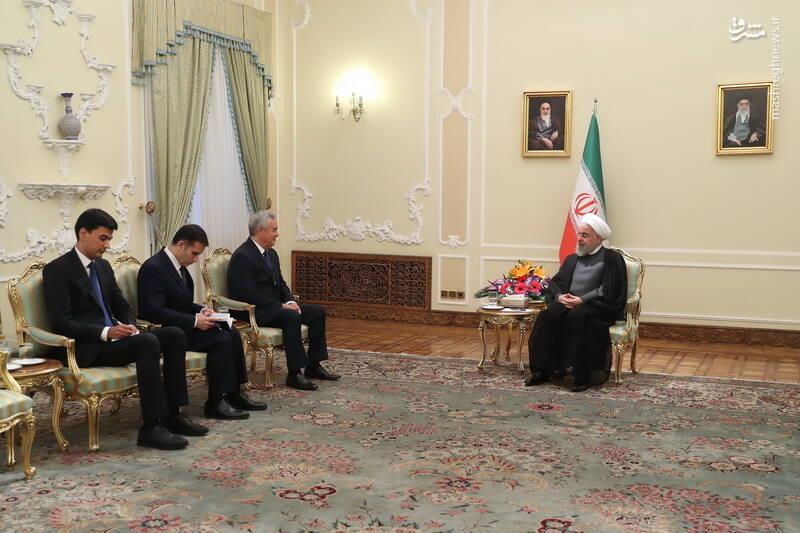 تقدیم استوار نامه سفیر جدید تاجیکستان به دکتر روحانی