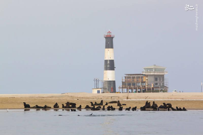 فانوس دریایی در دشت شن نامیبیا