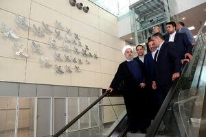 روحانی افتتاح ترمینال گالری سلام در فروگاه امام خمینی