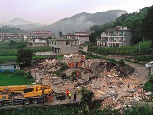 عکس/ خسارات زلزله 6 ریشتری در جنوب چین