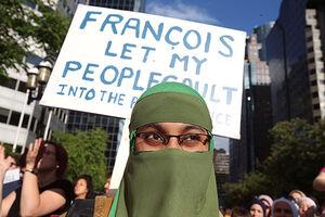 عکس/ تظاهرات مسلمانان در کانادا