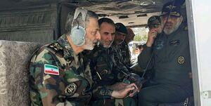 امیر موسوی از پایگاه هوانیروز اصفهان بازدید کرد
