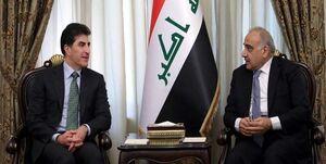 دیدار بارزانی با عبدالمهدی در بغداد
