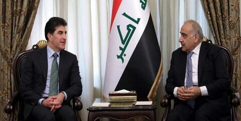دیدار رئیس اقلیم کردستان با نخستوزیر عراق