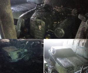 عکس/ آتشسوزی مرگبار در پارکینگ خودروهای عتیقه
