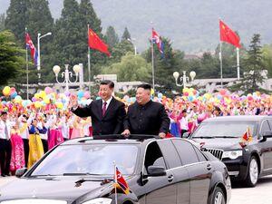 عکس/ اسکورت رئیسجمهور چین در کرهشمالی
