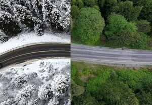 تصاویر هوایی زمستانی و تابستانی از ترکیه