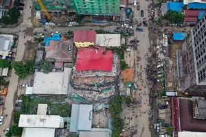 عکس/ ریزش مرگبار ساختمان در کامبوج