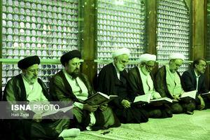 عکس/ تجدید میثاقمسئولان قوهقضاییه با امامراحل(ره)