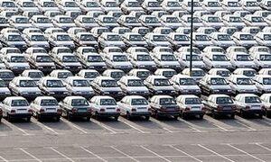 عکس/ دپوی صدها خودرو در انبار سایپا