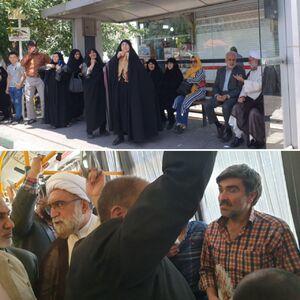 عکس/ تولیت آستان قدس با اتوبوس به حرم رفت