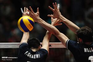 عکس/ دیدار تیمهای ملی والیبال ایران و فرانسه