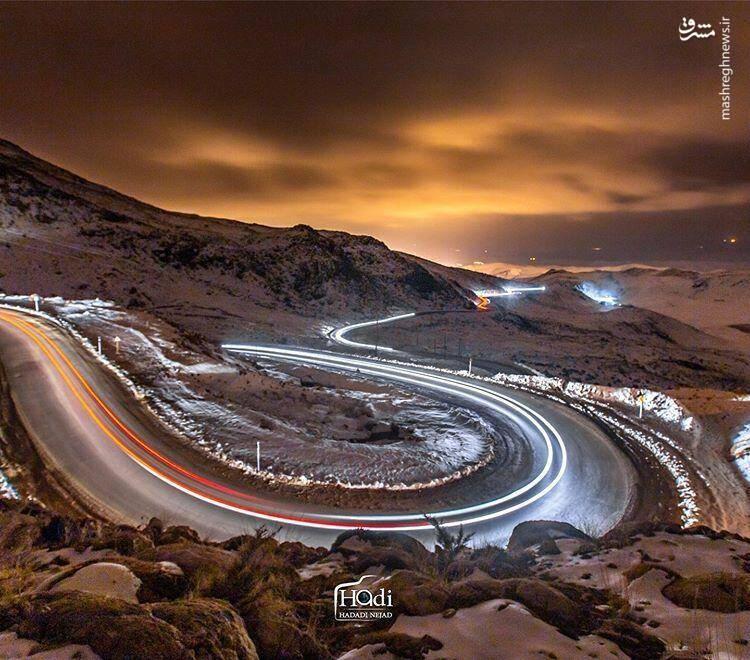 نمایی زیبا از جاده سپیدان /عکس