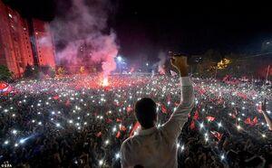 عکس/ جشن پیروزی نامزد حزب مخالف اردوغان در انتخابات