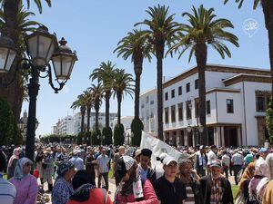 عکس/ تظاهرات مخالفان معامله قرن در مغرب