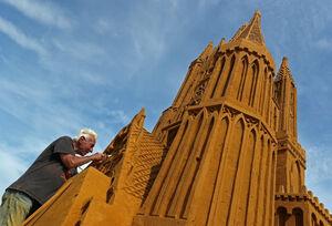 عکس/ جشنواره مجسمههای شنی در بلژیک