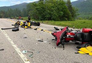 عکس/ کشته شدن ۷ موتورسوار در تصادف با تریلی