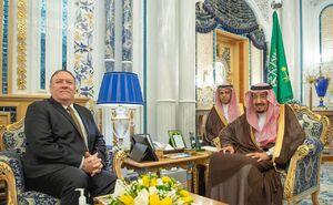 عکس/ دیدار وزیر خارجه آمریکا با شاه سعودی