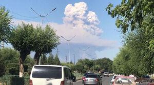 عکس/ انفجار یک پایگاه نظامی در قزاقستان