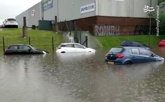 عکس/ بارش شدید باران در جنوب انگلیس