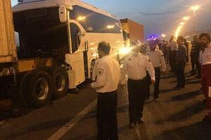 تصادف خونین اتوبوس با پراید در ساری