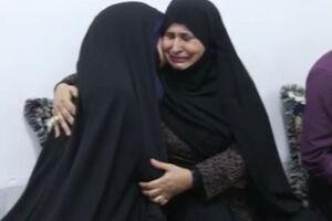 فیلم/ لحظه اعلام بازگشت پیکر شهید به همسرش