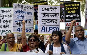 خشم مردم هند از سفر پمپئو