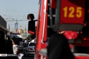 عکس/ حادثه حریق در هتل قصر مشهد