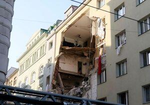 عکس/ انفجار شدید گاز در یک ساختمان مسکونی