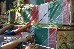 عکس/ تشییع باشکوه پیکرهای مطهر ۱۵۰ شهید دفاع مقدس