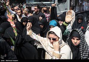 عکس/ حال و هوای مردم در تشییع پیکر شهدا