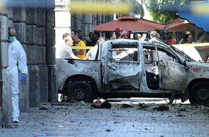 عکس/ انفجار نزدیک سفارت فرانسه در تونس