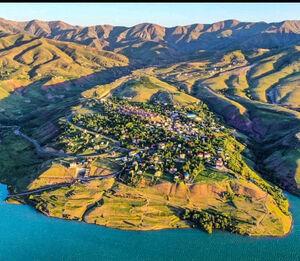 تصویر هوایی زیبا از طبیعت طالقان
