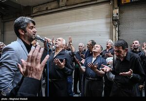 عکس/ عزاداری شهادت امام صادق(ع) در بازار تهران