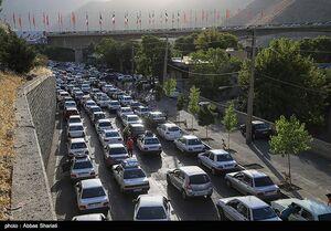 ترافیک سنگین در محور کرج ـ چالوس